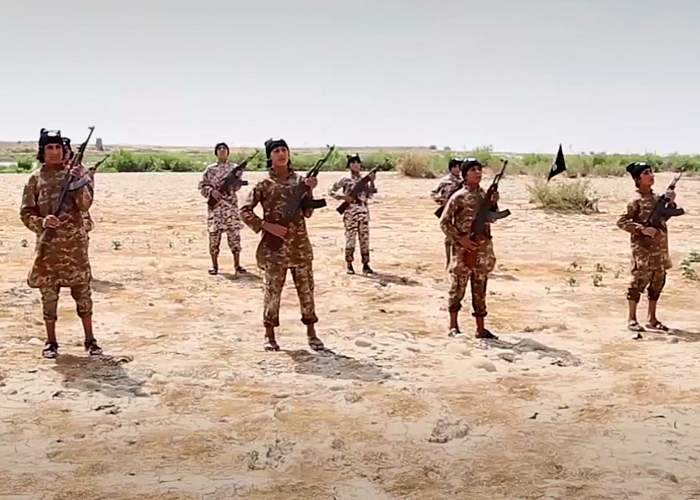 IS cub fighters in training<br />(from an IS video, 22 July 2015)