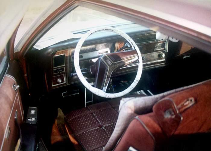 Inside Lester Jones's car
