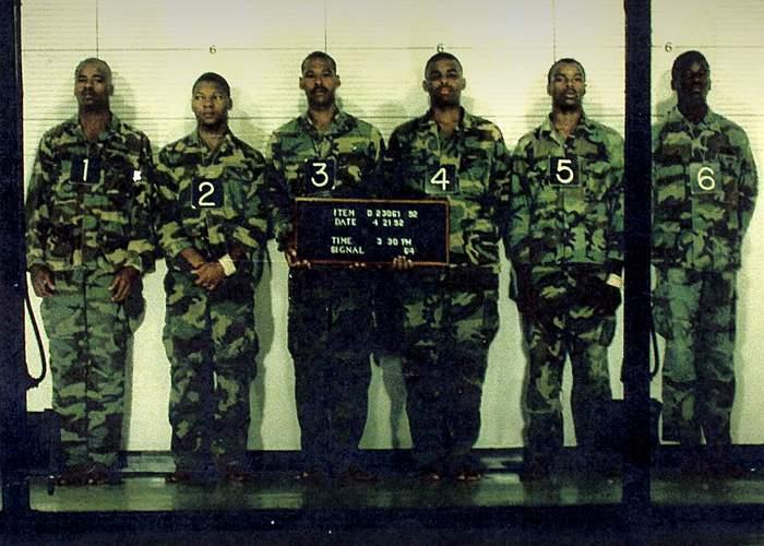 Robert Jones (no 5) in a police line-up, 1992