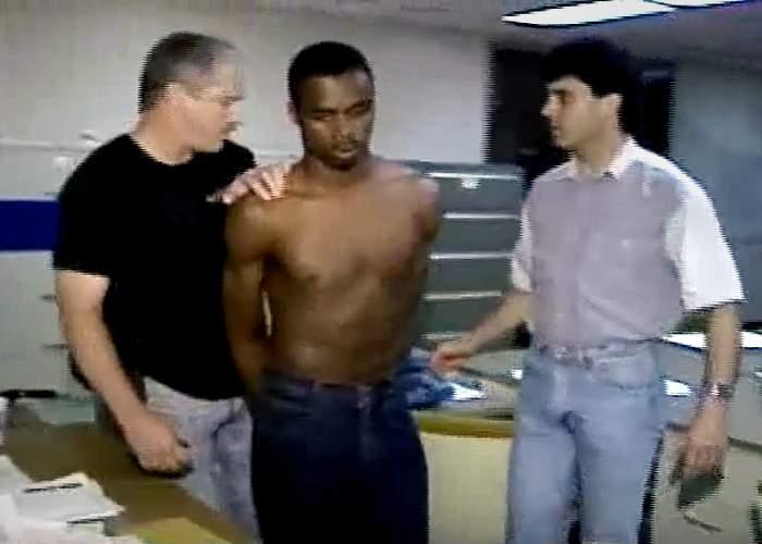 Robert Jones after his arrest, 1992