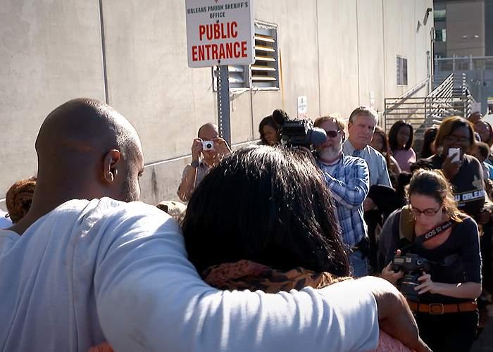 Reporters at Robert Jones's release on bail