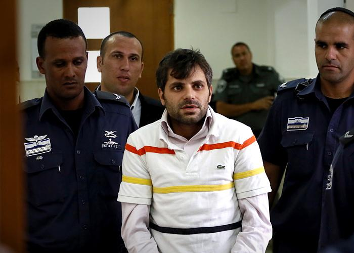 Suspect Yosef Haim Ben-David in court (Getty Images)