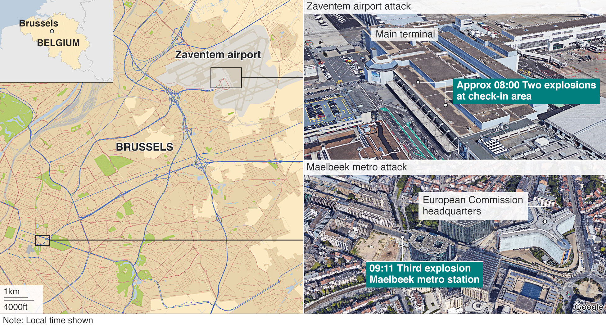 Brussels explosions: What we know about airport and metro attacks ...