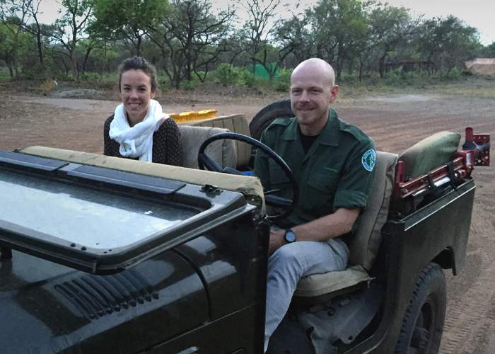 Park Manager Erik Mararv (r), with colleague Jean Labuschagne