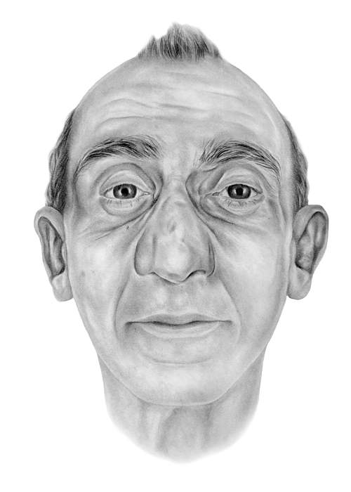 Artist's impression of the mystery man