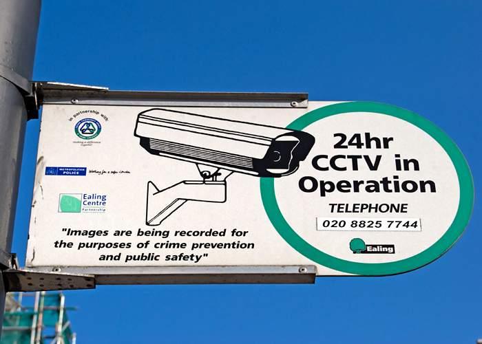 CCTV sign in Ealing, London