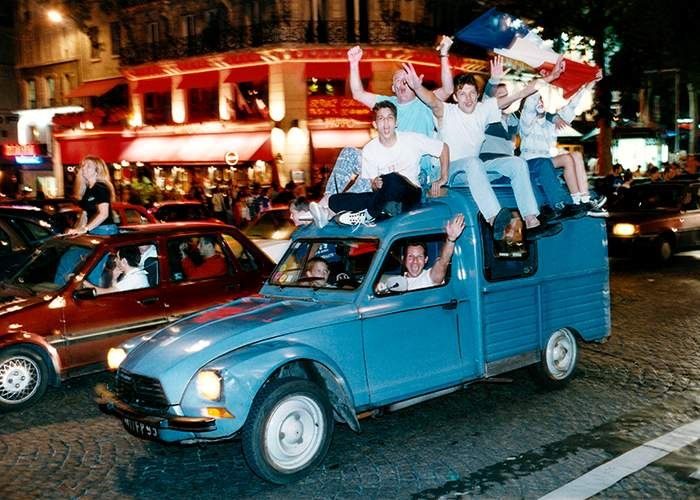 France's World Cup victory was celebrated throughout the night of 12 July on the streets of Paris