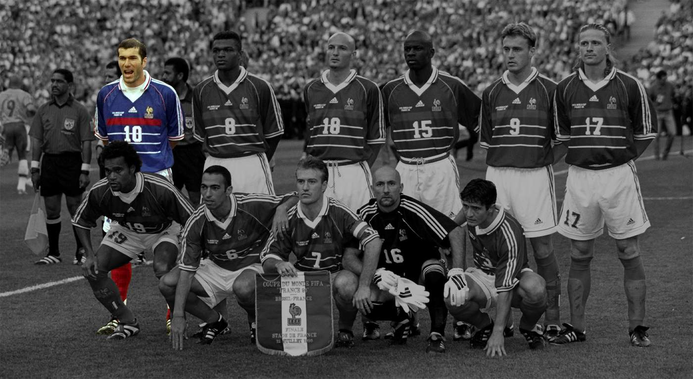 3bca65bb6 Zinedine Zidane France s talisman and scorer of two goals in the 1998  final. His Algerian parents came to. France in the 1950s. Born and