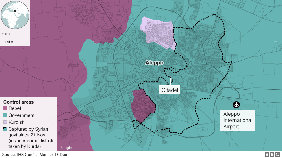 Aleppo Divided Between Rebels And Syrian Government