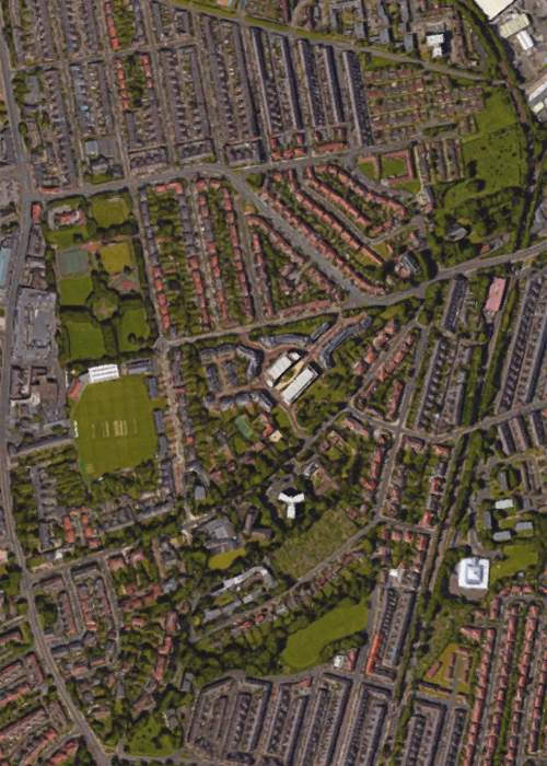 Aerial view of Gosforth