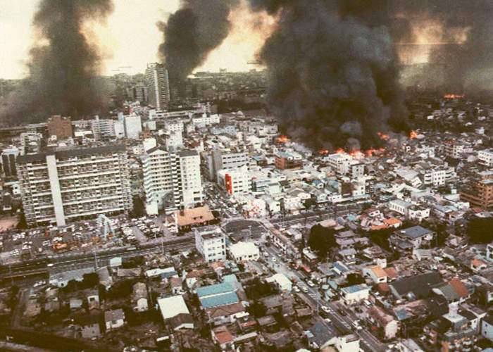 Kobe after the earthquake, 1995