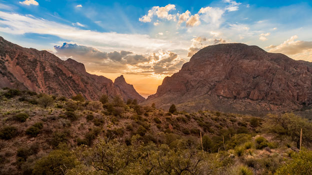 Mountains in Big Bend national park