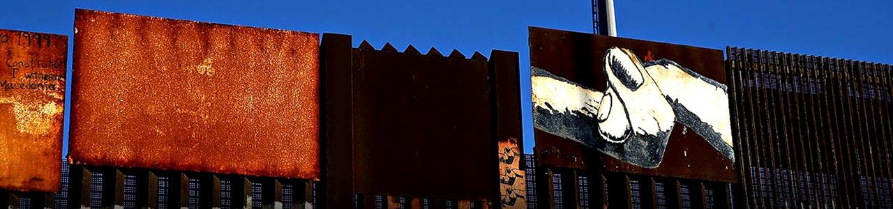 بخشی از مرز آمریکا و مکزیک