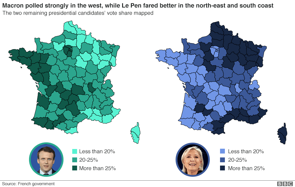 Map Of France Voting.French Election Poll Tracker Bbc News