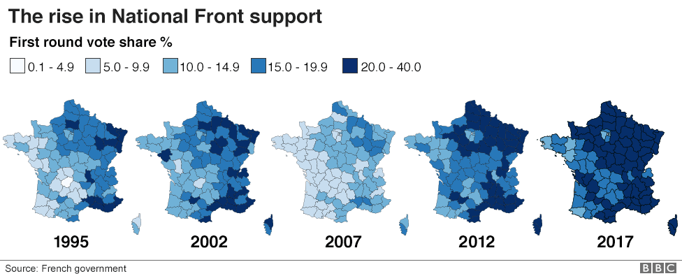 Map Of France Voting.The Maps That Show How France Voted And Why Bbc News