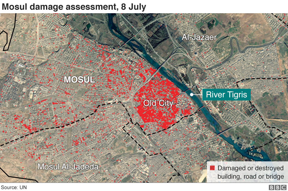 How the battle for Mosul unfolded BBC News