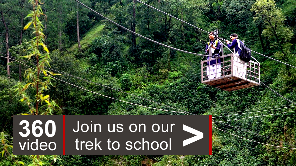 two sisters a mountain trek and a wobbly wire bridge bbc news