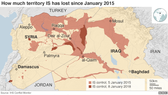 Islamic State and the crisis in Iraq and Syria in maps - BBC ...