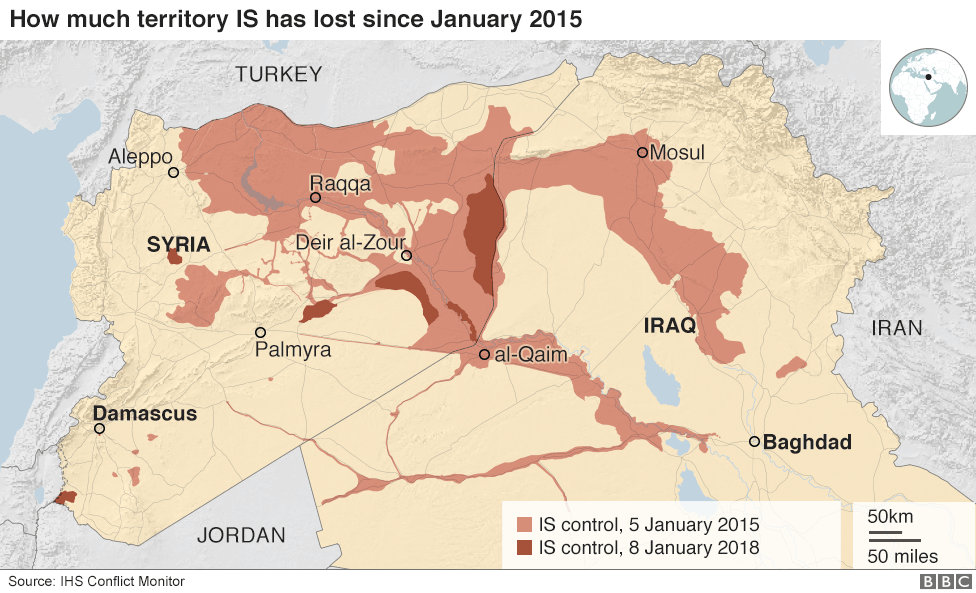 Islamic state and the crisis in iraq and syria in maps bbc news the capture of raqqa by a us backed alliance of syrian kurdish and arab fighters in october was seen as a major victory in the battle against is gumiabroncs Gallery
