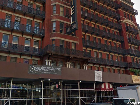 Chelsea Hotel - with scaffolding outside