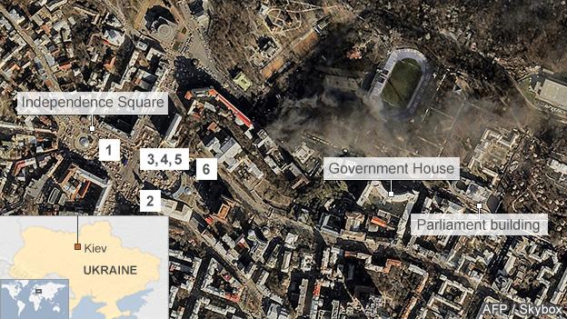 Satellite image of central Kiev