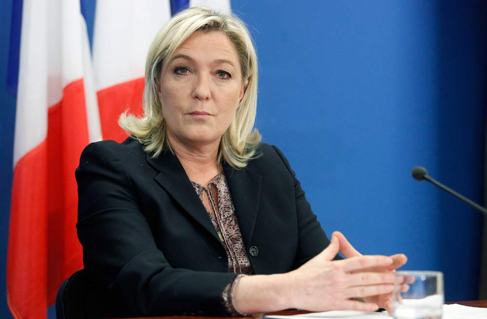 Macron's rival for the French presidency, Marine Le Pen