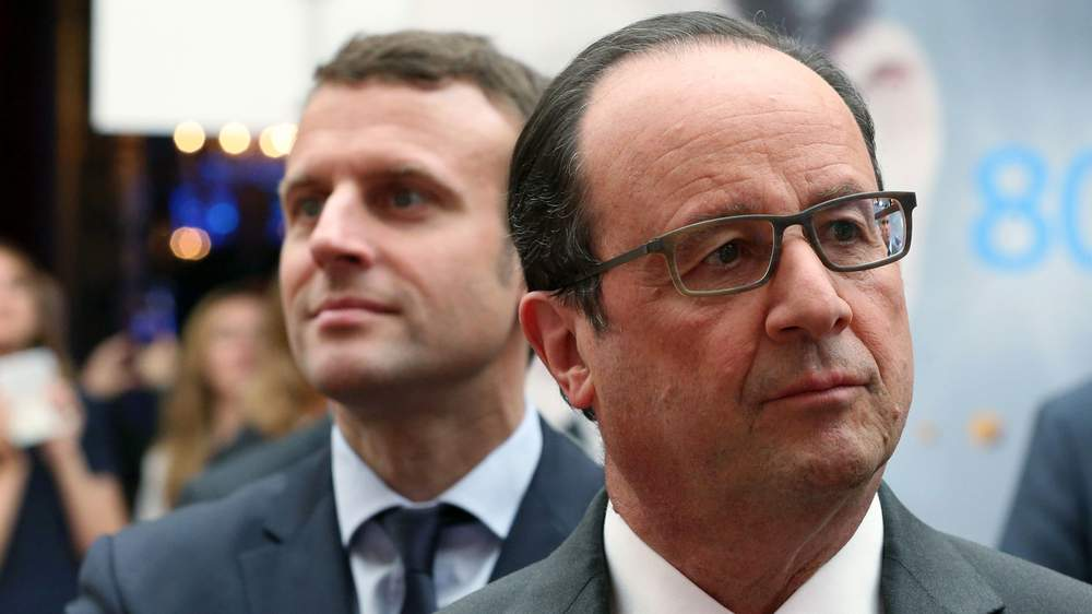 Macron with President Francois Hollande