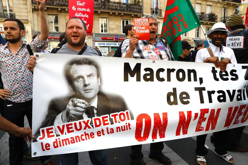 Macron faced public opposition to his economic policies