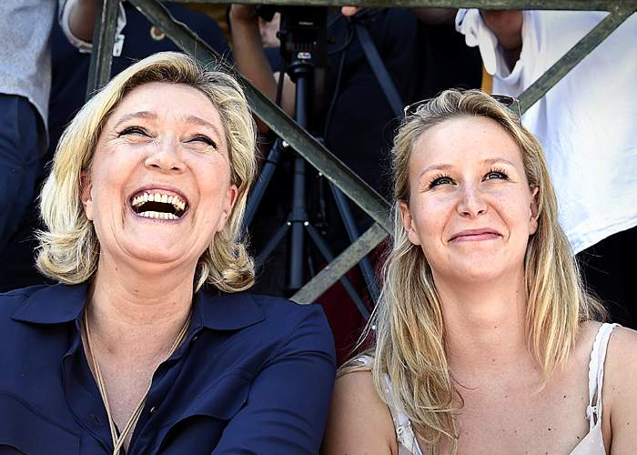 Marine Le Pen and Marion Marechal Le Pen in 2016(Getty Images)