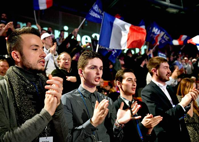 Young FN supporters, 2017(Getty Images)