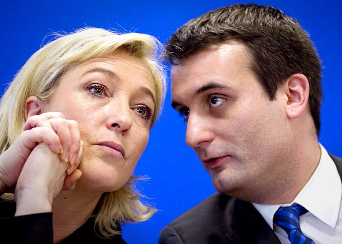 Marine Le Pen with Florian Philippot(Getty Images)
