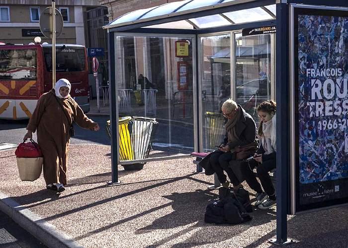 Bus stop in Beziers, southern France(EPA)