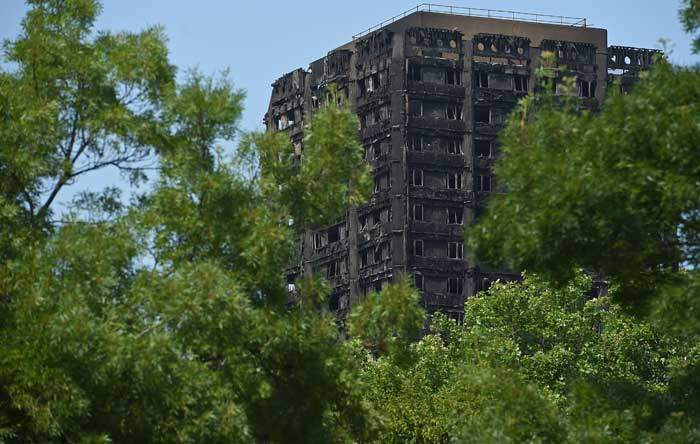 Grenfell Tower, west London, scene of a devastating fire which left dozens dead