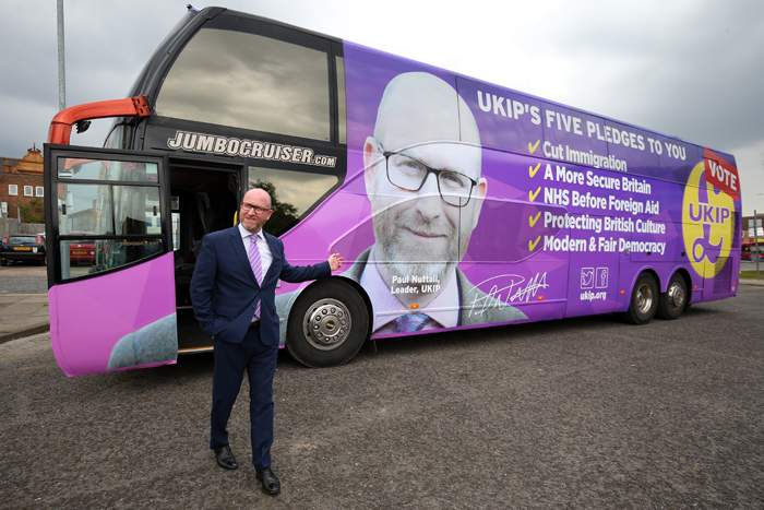 Former UKIP leader Paul Nuttall - the party lost votes both to the Conservatives and Labour