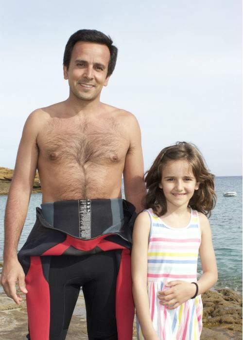 Goncalo Mesqueta and his daughter Enas