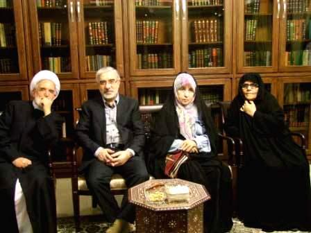 فاطمه کروبی٬ زهرا رهنورد٬ میرحسین موسوی و مهدی کروبی