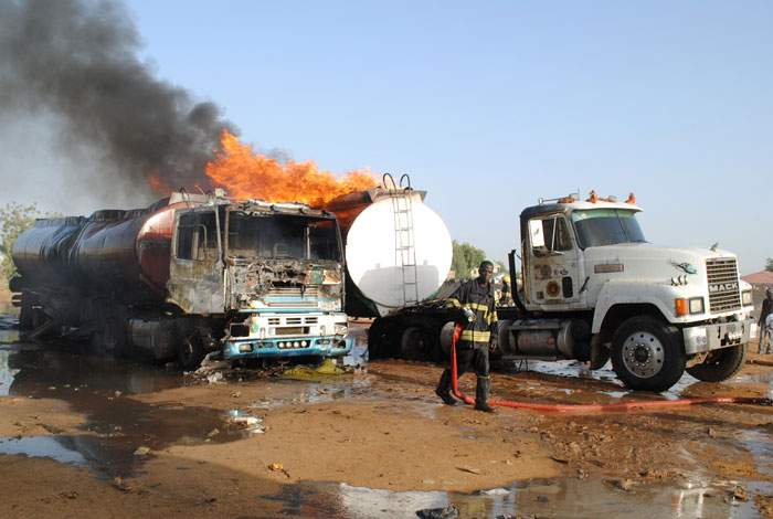 The aftermath of a suicide attack in Maiduguri, March 2017