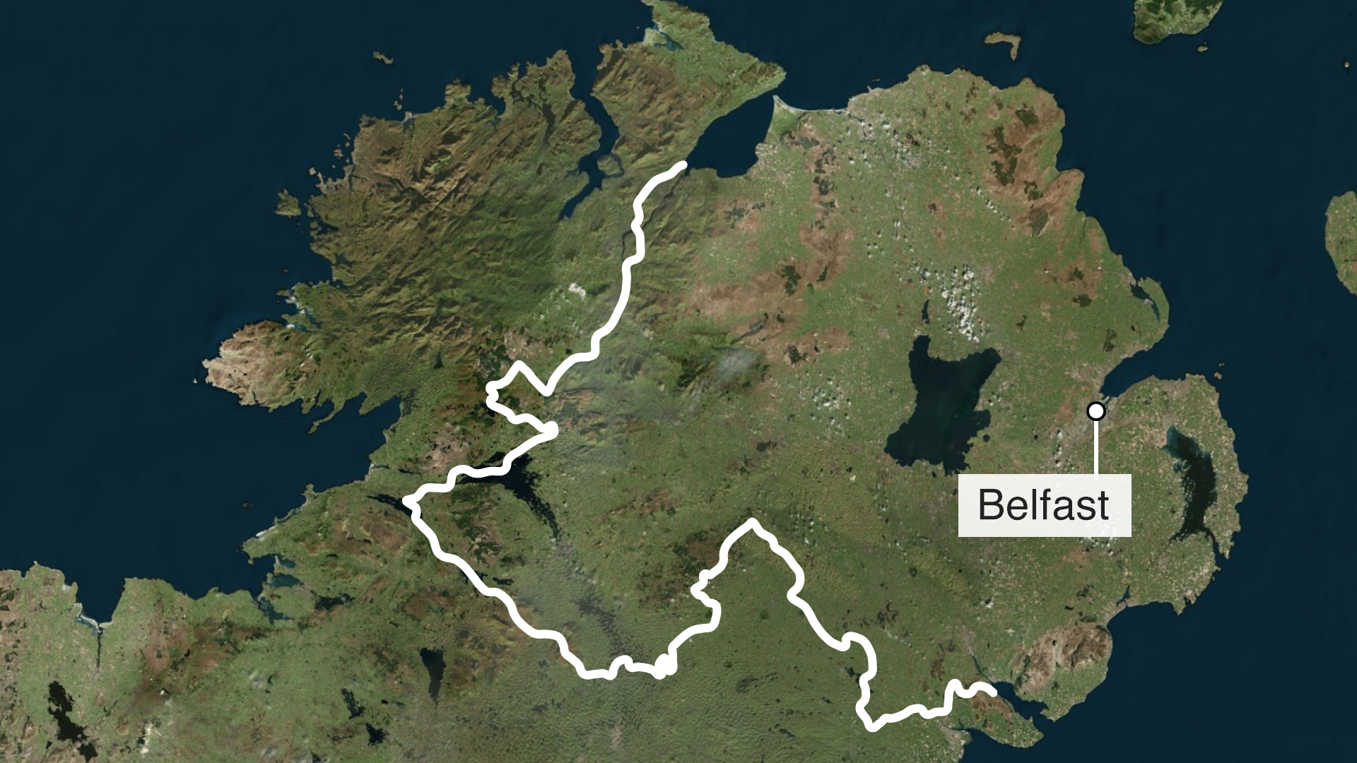 Map Of Southern Ireland Cities.The Hardest Border Bbc News