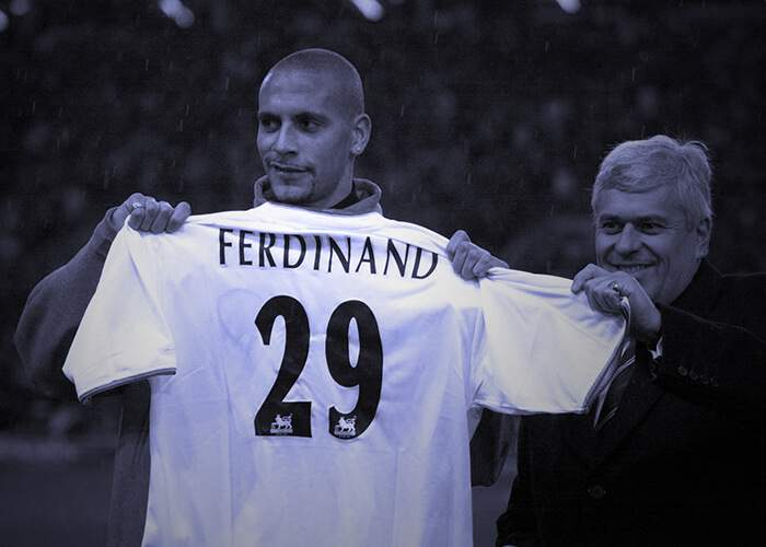 23 November 2000  Leeds break the English transfer record by paying £18m  for West Ham centre-back Rio Ferdinand. The England international would  make ... c78f76209