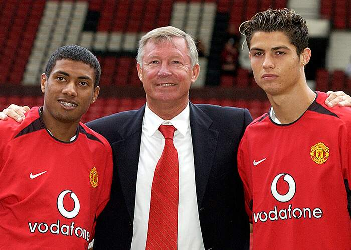 Cristiano Ronaldo (right) and Kleberson (left) - one would go on to become a Manchester United legend. The other would not