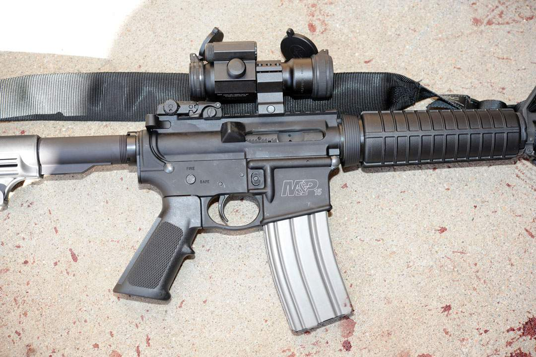 .223 M&P Assault Rifle photographed outside the cinema