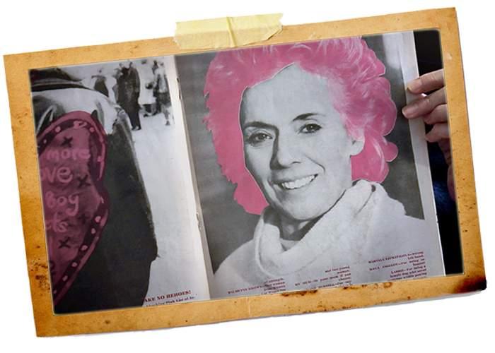 Sue Johnston in the magazine - Shocking Pink