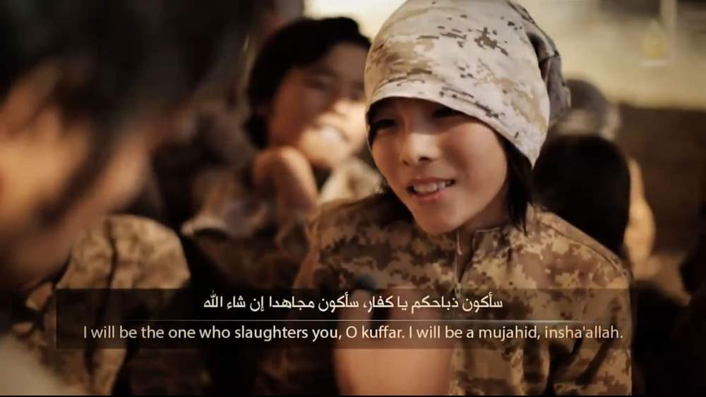 Still from IS propaganda video: 'Training Future Lions'