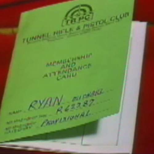 Ryan was a member of two gun clubs