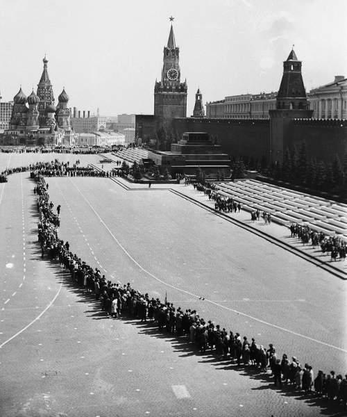 Очередь в Мавзолей в день 95-летия со дня рождения В.И. Ленина. Alexey Stuzhin, Boris Trepetov\/TASS