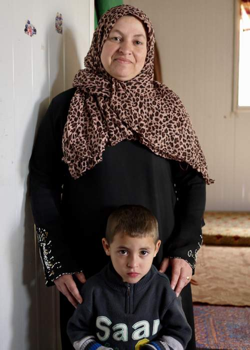Issam Al Masri's mother, Kholod, and younger brother Mohammed