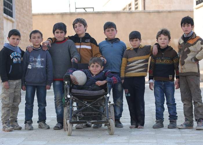 A group of young boys in Aleppo