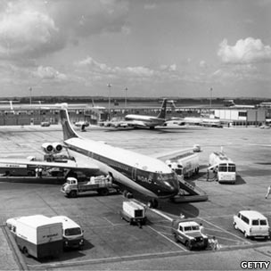 Heathrow airport in the mid-20th Century